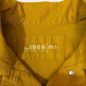 GAP Jackets & Coats - Gap mustard yellow corduroy button jacket TALL